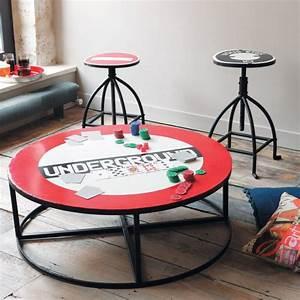 Table Basse Ronde Industrielle : table basse ronde ~ Teatrodelosmanantiales.com Idées de Décoration