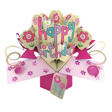 Happy Birthday Female Popup Greeting Card  Cards Love