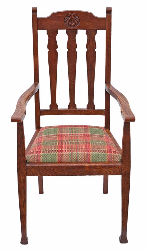 antique oak chairs oak desk arm chair nouveau 4671c la72433 1293