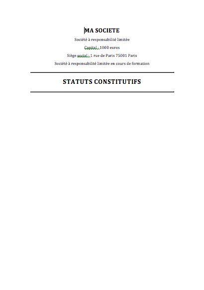 modele statut sci word exemple statuts eurl
