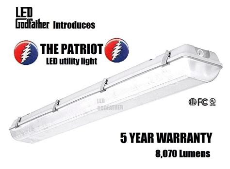 66w 5000k 4ft Garage Shop Troffer Light Fixture With 3 X