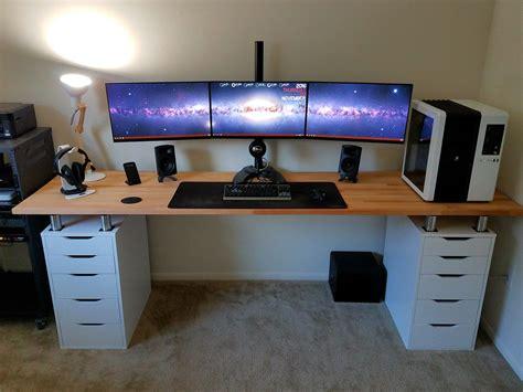 bureau gamer ikea the monitor dual desk workspace lifehacker australia