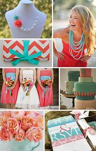 summer splash in turquoise and coral With coral and turquoise wedding ideas