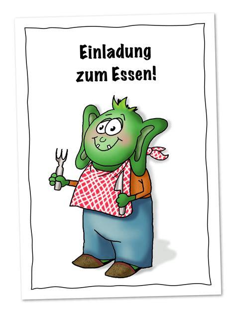 postkarte fuer kinder mit einladung zum essen