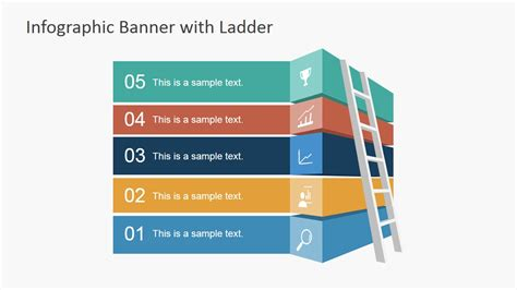 infographic banner template  ladder  powerpoint