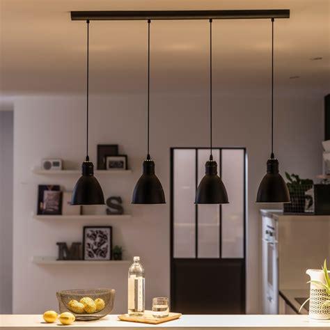 plafond de cuisine une suspension 4 en 1 au style industriel leroy merlin