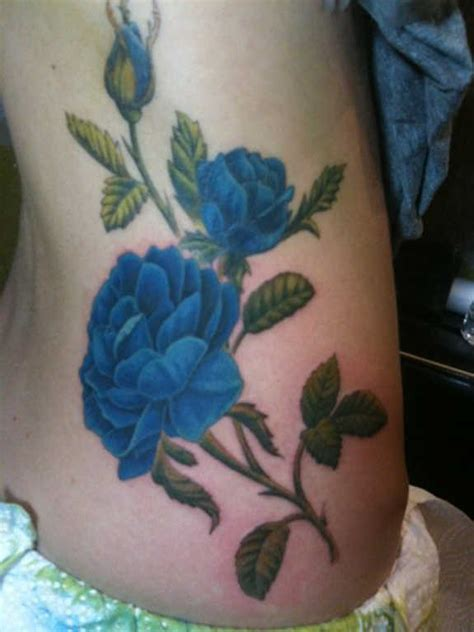 exclusive blue rose tattoos  designs