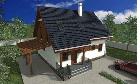 Trei proiecte de case cu mansarda si balcon - Case practice