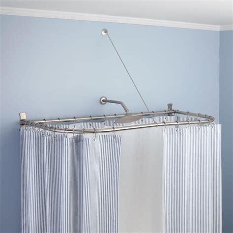 oval shower curtain rod oval shower curtain rod for clawfoot tub bathtub designs