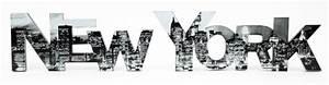 new york schwarz weiss online bestellen bei yatego With markise balkon mit tapete new york schriftzug