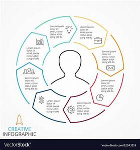 Circle Arrows Infographic Cycle Diagram Royalty Free