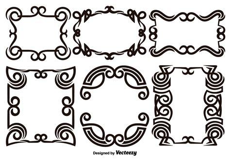 scroll works design ornamental decorative frames