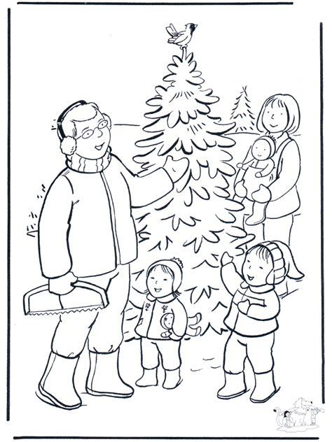 famiglia nella neve disegni da colorare natale