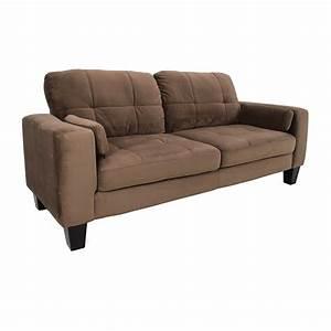 Jennifer convertibles sofa 48 off star furniture brown for Sectional sofas jennifer convertibles
