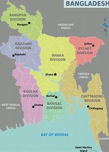 Large Detailed Administrative Divisions Map Of Bangladesh