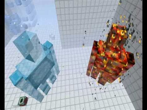 minecraft golem war ice  lava youtube