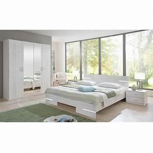 Chambre Complete Adulte : chambre adulte compl te ch ne blanc cbc meubles ~ Carolinahurricanesstore.com Idées de Décoration