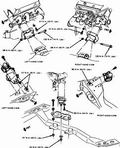 I Need A Diagram Of Motor Mount Replacing On A 1993 Chevy Astro Van 4 3 Litre Z Vin Tbi Motor Rwd
