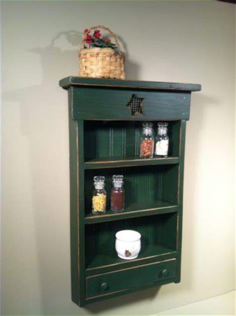 Primitive Spice Rack by Rustic Primitive Country Spice Rack With Drawer