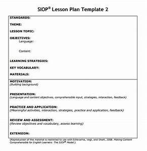 siop lesson plan templates download free documents in pdf With siop lesson plan template 3 word document
