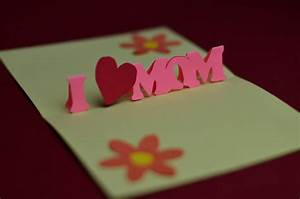 simple mothers day pop up card template With creative pop up cards templates free