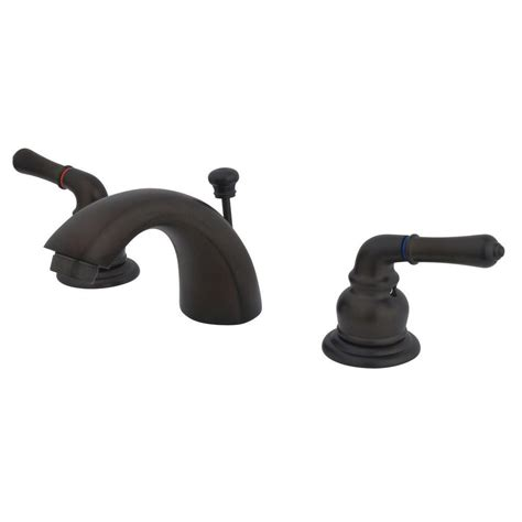 mini widespread faucet rubbed bronze kingston brass 4 in mini widespread 2 handle mid arc