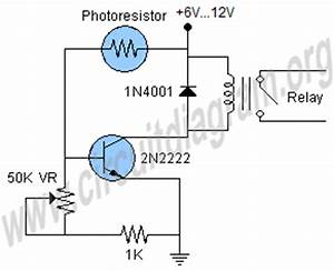 light sensor circuit circuit diagram With sensor ldr circuit also simple relay circuit diagram together with led