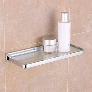 gorgeous small esme chrome glass shelf 300mm ideal for With benefits of adding glass bathroom shelves