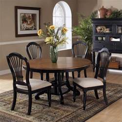 hillsdale wilshire 7 piece round dining table set in pine