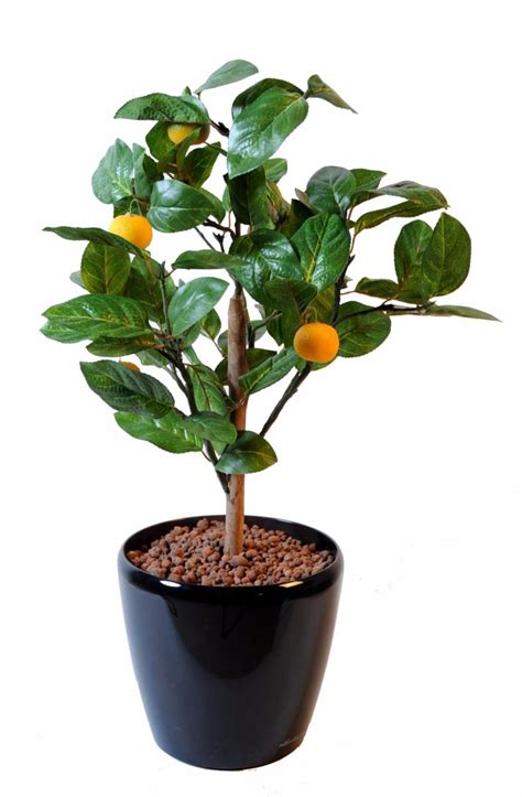arbre artificiel fruitier oranger mini en pot int 233 rieur h 65 cm vert orange