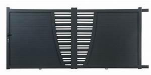 Portail Alu Coulissant 4m : portail en aluminium coulissant premium 4 m tres gris ~ Dailycaller-alerts.com Idées de Décoration
