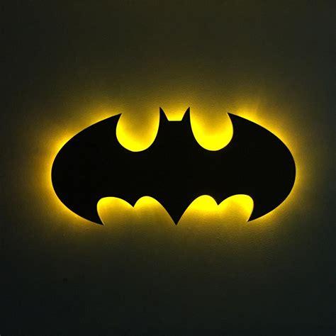 "Batman 1989 ""michael Keaton"" Logo  Wood Cutout With Led"