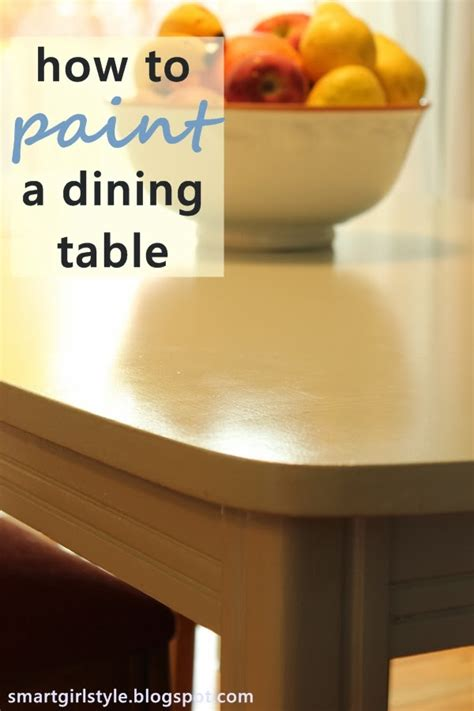 how to paint a dining room table with chalk paint smartgirlstyle how to paint a dining room table