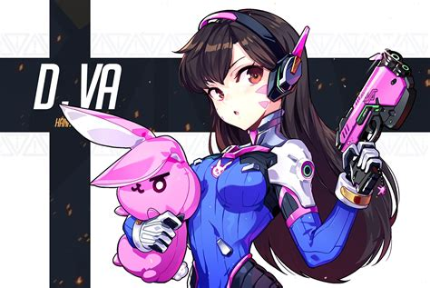 Wallpaper Overwatch, Dva Gun, Anime Style Wallpapermaiden