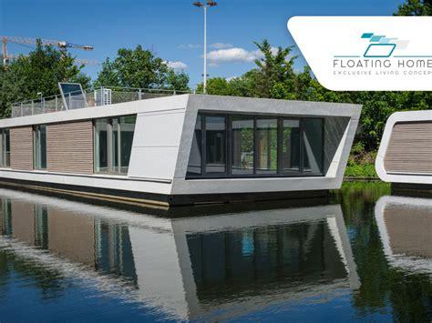 floating homes schwimmendes haus  hamburg leben auf