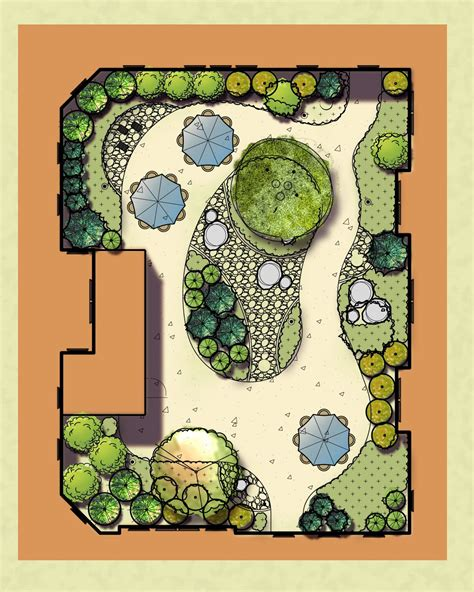 Japanischer Garten Planen by Plan Rendering Of The Quot Zen Quot Garden At Avita Assisted