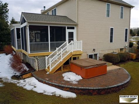 screened porch maryland deck  patio builders md