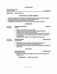 cashier resume template free printable With resume sample for cashier at a supermarket