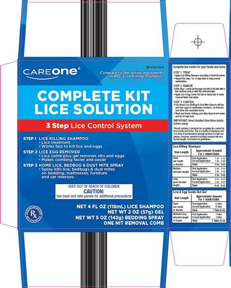 careone lice solution kit american sales company