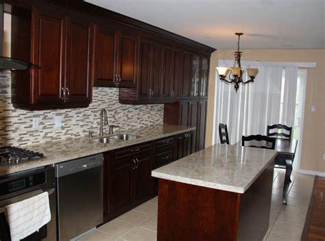 cherry cabinets with gray countertops dark cherry coloured custom kitchen cabinets with granite