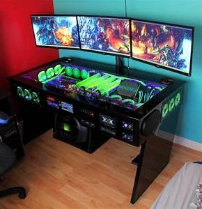 Gaming Zimmer Ideen : die besten 25 gaming schreibtisch ideen auf pinterest gaming schreibtisch ikea gaming ~ Markanthonyermac.com Haus und Dekorationen