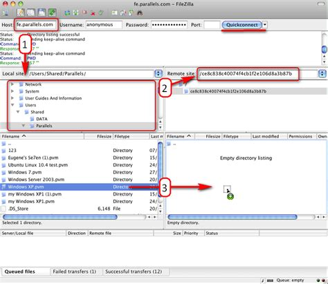 Filezilla Resume Failed by Kb Parallels Upload Files With Filezilla