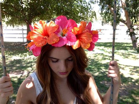Hawaiian Hibiscus Floral Crown Headband