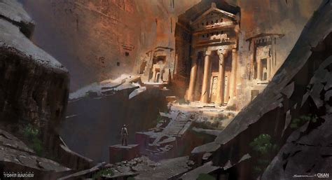 Artstation Cliff Tomb Rise Of The Tomb Raider Concept