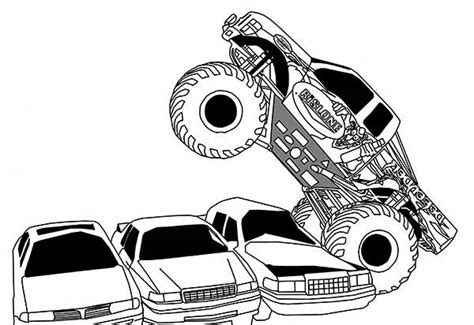 monster truck running  cars coloring page kids play color