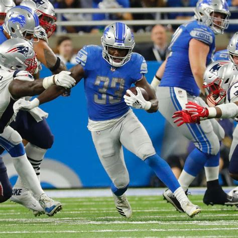 kerryon johnson ends detroit lions  yard rushing
