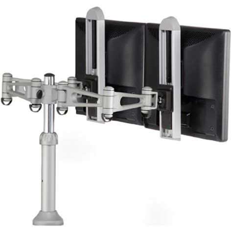 dual monitor arm desk mount humanscale m7 dual lcd monitor arm for desk mount or wall