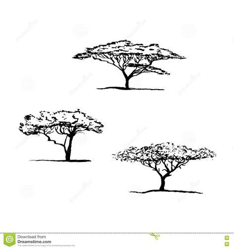 silueta de árbol de navidad silueta vector 225 rbol acacia 193 rbol de navidad africano ilustraci 243 n vector
