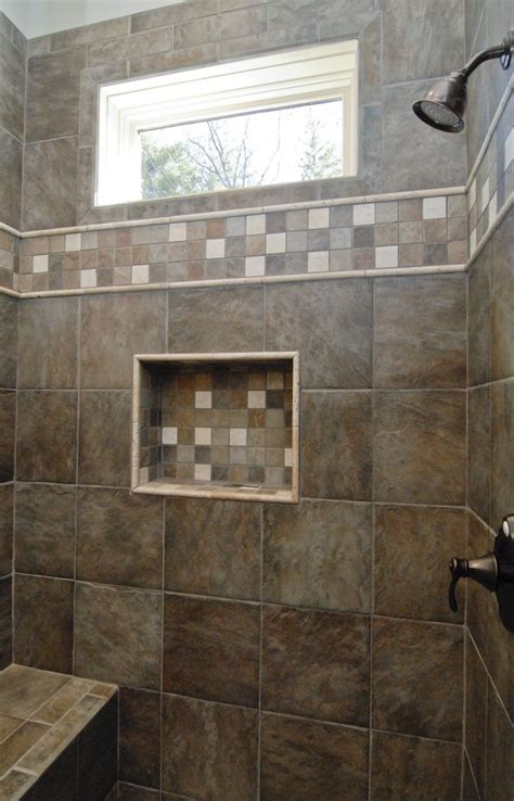 custom home builder window  shower tile walk