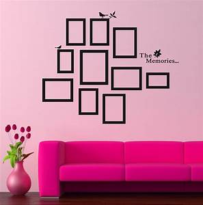 wall decal picture frame wall decals inspiration stick on With picture frame wall decals inspiration